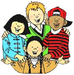 four children together